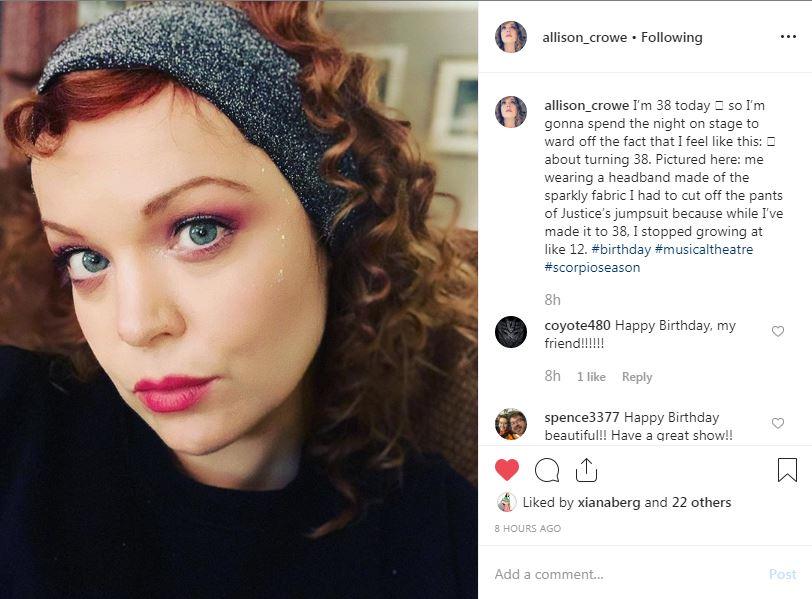 Allison Crowe - Happy Birthday!! - November 16, 2019!!