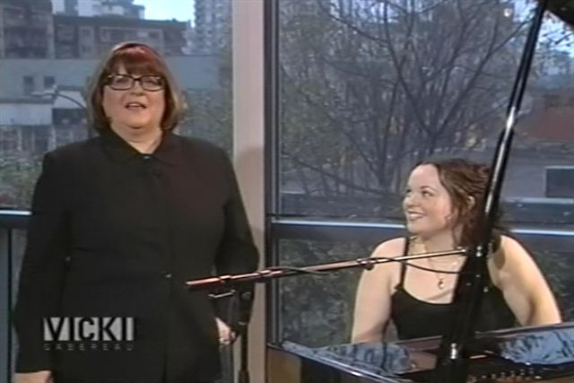 Allison Crowe's national tv debut with Vicki Gabereau