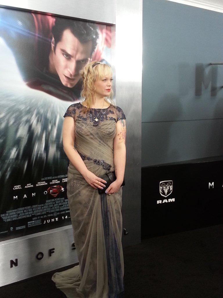 Allison Crowe - Man of Steel World Premiere - Lincoln Center, New York City