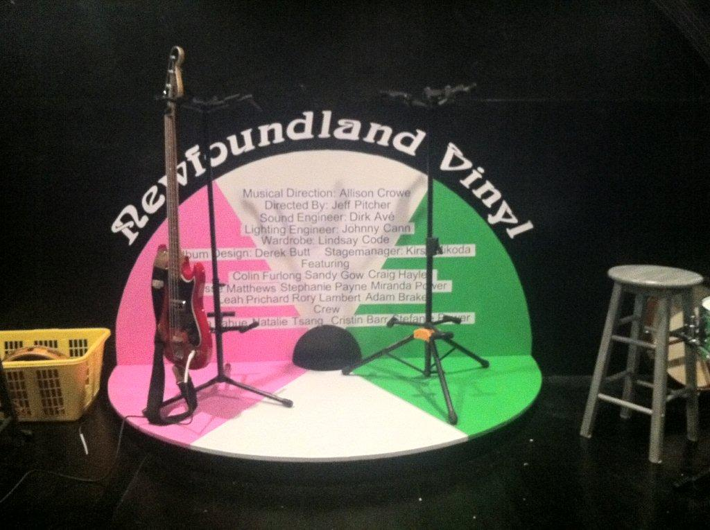 Newfoundland Vinyl - stage riser - design by Derek Butt - photo Allison Crowe