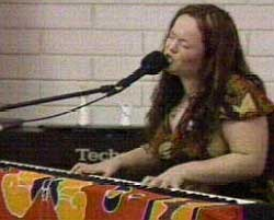 CREDIT: CH TV:Allison Crowe performed Lisa's Song at a vigil for Lisa Young, who has been missing since June 2002.