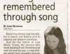 Missing woman remembered through song - Nanaimo Daily News