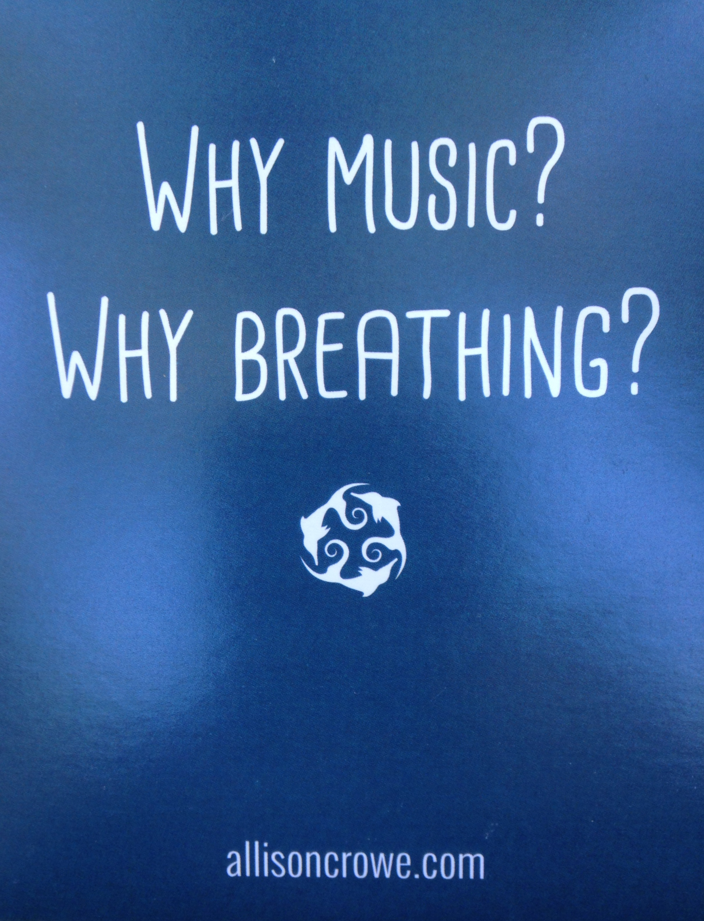 Allison Crowe and Band - Why music? Why breathing?