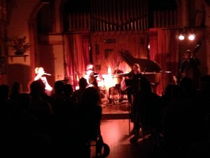 The band's born on this tour - here performing sold-out Salt Spring Island concert